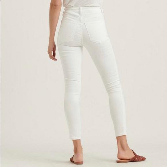 Lucky Brand Bridgette High Rise Skinny Jeans White